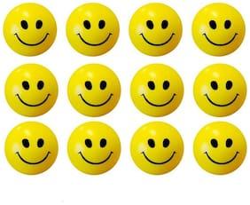 Yellow Smiley Ball Set of 12
