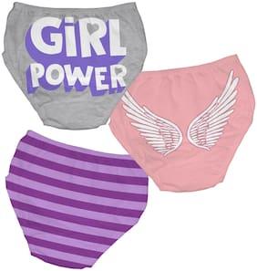 YouGotPlanB Panty & bloomer for Girls - Multi , Pack of 3