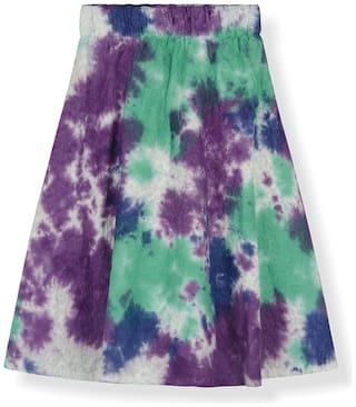 Young Birds Girl Cotton Tie & dye A- line skirt - Multi