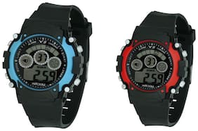 Ys Combo Of 2 Digital Watches-rg599 With Multi Size For Boys & Girls