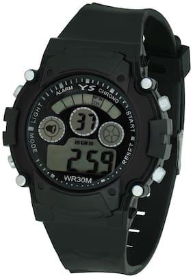 Ys Smart Black Digital Watch With Adjustable Pu Strap -for Kid's (girls & Boy's)