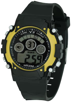 Ys Yellow Digital Watch With Adjustable Pu Strap - For Kid's (girls & Boy's)