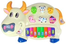 Zaprap Plastic Cow Paino  Musical Toy for kids