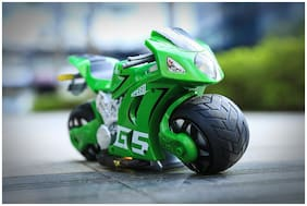 Zenith Toys 1:8 Scale Remote Control Motorbike, 2.4G RC 4D Motor Motion Sensing Auto-Cycle Simulation Racing Moto Toy for Kids (green)