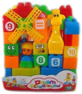 Zest 4 Toyz Building Blocks Animal Giraffe And Fan For Learning While Playing