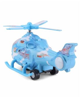 Zest 4 Toyz Musical Force Helicopter Toy;Bump and Go Action;Lights and Music;Blue