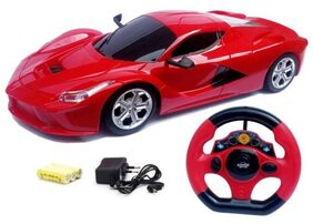 Zest 4 Toyz Ferrari Style Rechargeable Remote Control Car With Steering