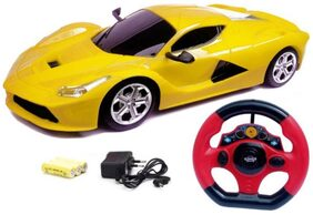 Zest 4 Toyz Ferrari Style Overseas Gravity Sensing Rechargeable Racing Car With Steering