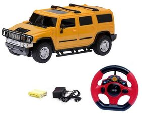 Zest 4 Toyz Hummer Style Racing Rechargeable Car With Radio Control Steering