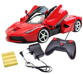 Zest 4 Toyz Remote Controlled Ferrari like Model Sports Car With Openable Doors (Red)