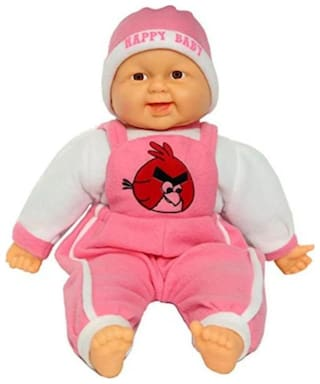 Zest 4 Toyz Laughing Baby Semi Soft Toy With Real Like Laughing Sound (pink)