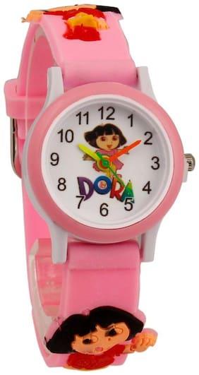 Zest4Kids - Dora Light Pink Plastic analog watch for kids Excellent   gift item for kids