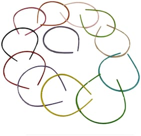 ZEVORA  Multi Color Beautiful Bunch of Party/Daily Hair Band for Girls/Kids (Pack of 12)