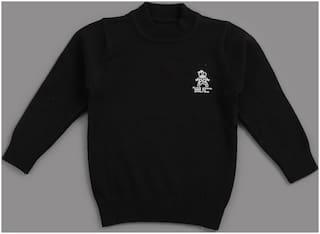 Zonko Style Boy Acrylic Solid Sweater - Black