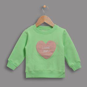 Zonko Style Unisex Cotton Solid Sweatshirt - Green