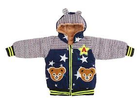 Zonko Style Boy Polyester Printed Winter jacket - Blue