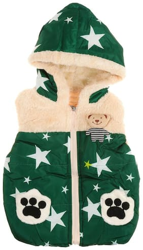 Zonko Style Boy Polyester Solid Winter jacket - Green