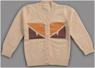 Zonko Style Boy Acrylic Solid Sweater - Yellow