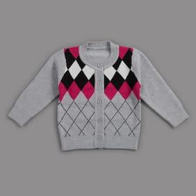 Zonko Style Baby Boy Acrylic Solid Sweater - Grey