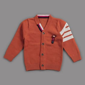 Zonko Style Baby Boy Acrylic Solid Sweater - Red