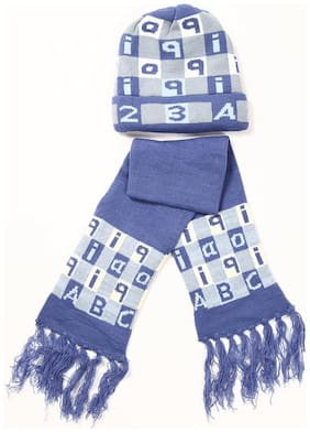 Zonko Style Boy Blended Muffler - Blue