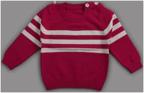 Zonko Style Boy Acrylic Solid Sweater - Red