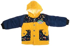 Zonko Style Boy Polyester Printed Winter jacket - Yellow