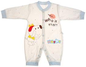 Zonko Style Baby boy Cotton Solid Winterwear onesie and romper - White