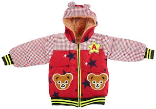 Zonko Style Boy Polyester Colorblocked Winter jacket - Red