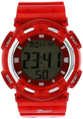Zoop Digital Watch with Red Plastic Strap for Boys