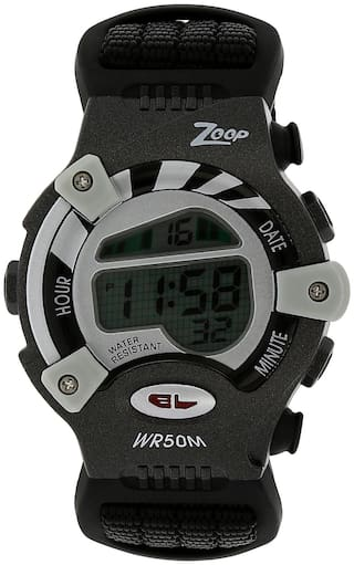 Zoop Digital Watch with Black Fabric Strap for Boys