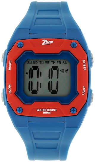 Zoop Digital Watch with Blue Plastic Strap for Boys