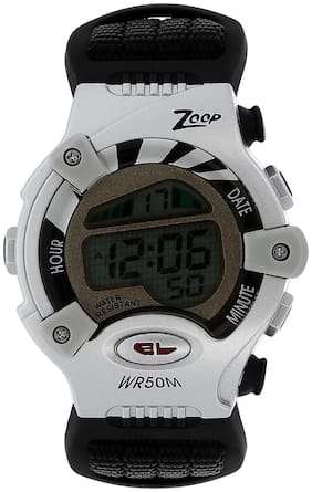 Zoop Digital Watch with Black Strap for Boys