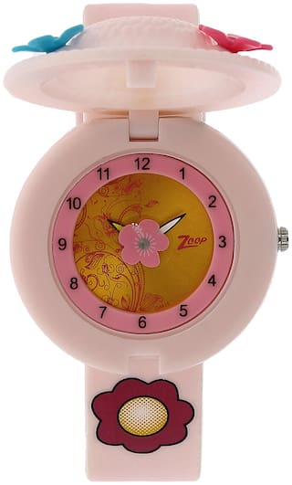 Zoop Golden Dial Analog Watch for Girls