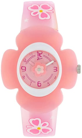 Zoop Pink Dial Analog Watch for Girls
