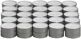 ZUKUNFT FASHION Pack of 50 Unscented Tealight Candles, Daily Use, MultiPurpose, Birthday, Festive, HomeDecor Candle,DIWALI CANDLE  (White, Pack of 50)