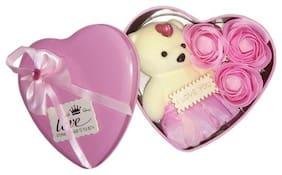ZUKUNFT FASHION Cream & Pink Teddy Bear - 12 cm