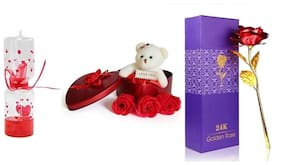 ZUKUNFT FASHION Red Teddy Bear - 12 cm