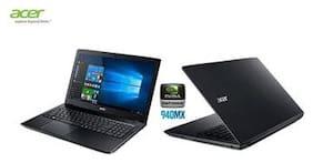 Acer Aspire E5-575  (NX.GE6SI.033)(Core i5 (7th Gen)/4GB DDR4 RAM/1 TB HDD/Windows 10 Home/Intel  HD Graphics 620) (Black)