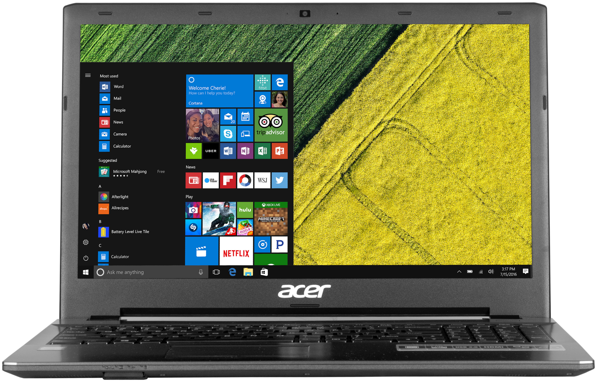 Acer Aspire 315-51_Z (Core i3 - 7th Gen / 4 GB / 1 TB / 39.62 cm (15.6 Inch) / Windows 10) Aspire 3 A3Z (UN.CTESI.012) (Black, 2.1 kg)