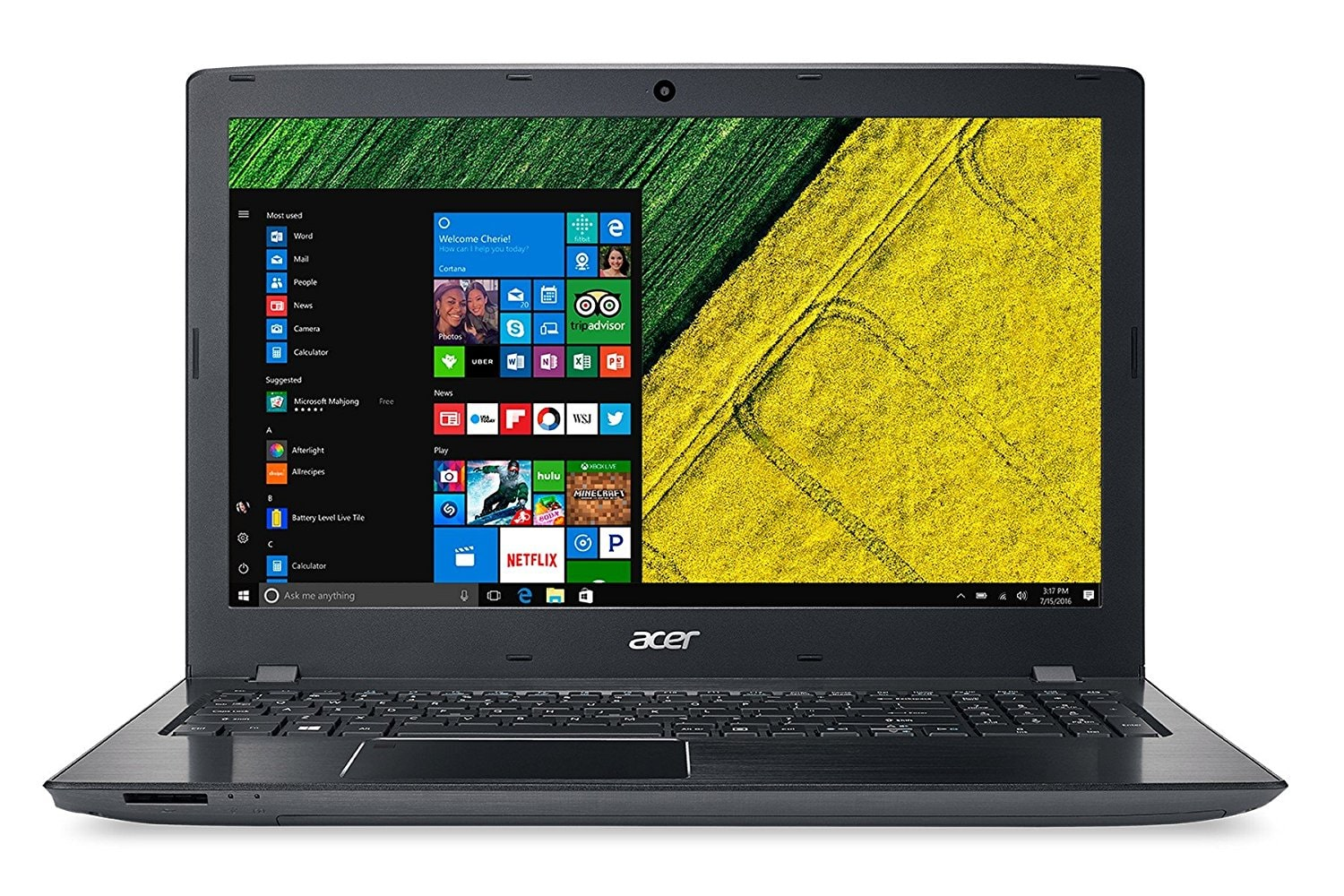 Acer Aspire E15 E5-576 (Core i3 -7th Gen/4 GB/1 TB/39.62 cm (15.6 inch)/ FHD/Windows 10) UN.GRSSI.005 (Obsidian Black, 2.2 kg)