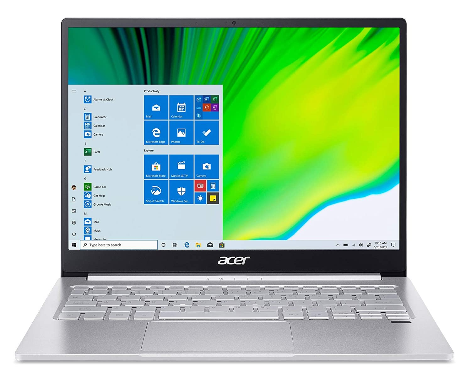 Acer Swift 3  Intel Core i5   11th Gen / 8  GB RAM/ 512  GB SSD / 33.02 cm  13 inch  / Windows 10   Pure Silver , 1.19 kg