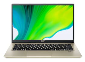 Acer Swift 3 SF314-59 (Intel Core i5-11th Gen/16 GB RAM/512 GB SSD/35.56 cm (14 inch)/FHD/Windows 10/4 GB Intel Iris X Max Graphics)Thin and Light Laptop (Safari Gold, 1.2 kg)