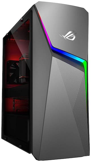 ASUS ROG Strix GL10DH-IN016T Gaming Desktop (AMD Ryzen 7-2700/8GB RAM/512GB NVMe SSD/Windows 10/4GB NVIDIA GeForce GTX 1650 Graphics) with Keyboard & Mouse