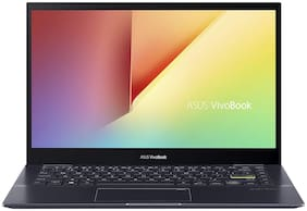 ASUS VivoBook Flip 14 Laptop (AMD Ryzen 3-4300U/4 GB RAM/256 GB SSD/35.56 cm (14 inch)/Windows 10 Home (64bit)/Integrated AMD Radeon RX Vega 5 Graphics) TM420IA-EC096TS (Bespoke Black, 1.6 kg)