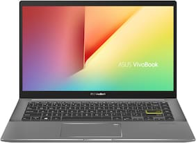 ASUS VivoBook S14 (Intel Core i5-1135G7/8 GB RAM/512 GB NVMe SSD + 32 GB Optane Memory/35.56 cm (14 inch)/FHD/Windows 10/MS Office 2019/Integrated Graphics) S433EA-AM501TS (Indie Black, 1.40 kg)