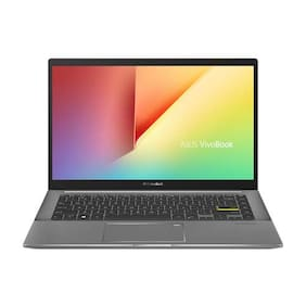 ASUS VivoBook S S14 Intel Core i7-1165G7 11th Gen  14-inch FHD Thin and Light Laptop (8GB RAM/512GB SSD + 32GB Optane Memory/Windows 10/Office 2019/Iris X Graphics/Indie Black/1.4 Kg)  S433EA-AM701TS