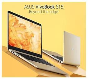 Asus VivoBook S (Core i5-8th Gen /8 GB/  1TB+256 GB SSD/ 39.62 cm (15 Inch) FHD/Windows 10/ 2 GB Graphics) Thin & Light Laptop S510UN-BQ256T (Gold, 1.7 Kg)