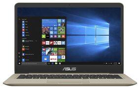 Asus VivoBook S14 S406 (Core i5-8th Gen /8 GB/ 256 GB SSD/ 35.81 cm (14.1 Inch) FHD/Windows 10) Thin & Light Laptop UA-BM204T (Gold, 1.2 Kg)