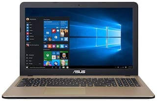 Asus Vivobook X540BA (APU Dual Core A6/ 4 GB RAM/ 1 TB HDD/ 15.6 inch/ Windows 10 Home) X540BA-GQ119T Thin & Light Laptop  (Chocolate Black, 1.8 kg)